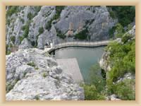 Kraftwerk auf dem Fluss Cetina