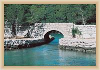 Insel Mljet - alte Brücke