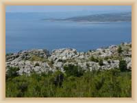 Anblick auf die Insel Brac von Baska Voda