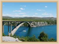 Brücke über den Fluss Krka bei Sibenik