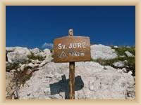 Berg St. Jure - Gipfel