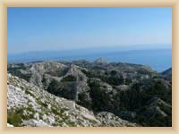Anblick aus dem Berg Sveti Jure