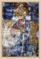 Kanfanar - Freske in der Kirche St. Agatha