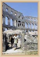 Pula - Teil des Römeramphitheaters