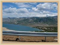 Velebit von der Autobahn nach Zadar